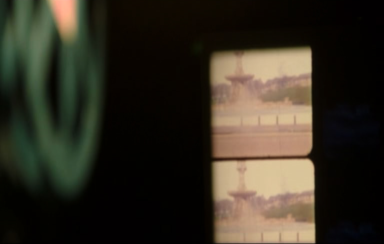 Two Fountains,16mm film still, projector, The Starry Messenger, The Void Gallery, Derry.